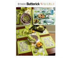 McCall Pattern Company Butterick B5800 - Patrones de costura para servilletas, manteles, caminos de mesa, mantelería y centros de mesa (3 tamaños), color blanco