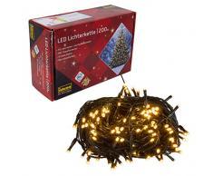 Cadena de luces LED con 200 LED en color ámbar, para fiestas, Navidad, decoración, bodas, como luz de ambiente, aprox. 27,9 m.