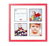 Inov8 16 x 40,64 cm Insta-Frame Marco para Instagram 4/de estampado a cuadros de fotos con paspartú blanco y negro con borde, diseño de León heráldico rojo