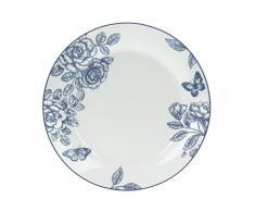 Tognana Olimpia Garden - Juego de 6 platos llanos, porcelana, azul, 6 unidades
