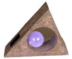 Näve 560561 - Lámpara de piedra con bombilla LED, funciona con energía solar