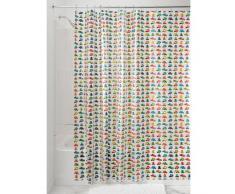 InterDesign Novelty EVA/PEVA cortina baño | Cortinas de baño originales para ducha y bañera | Ideales cortinas para baño con estampado de coches de 183,0 cm x 183,0 cm | Colorido