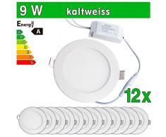 12 x Panel LED SMD 2835 LEDVero maikai 9 W redondo blanco frío de la lámpara luz de techo del punto