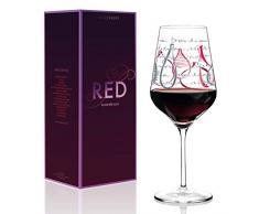RITZENHOFF Virginia Romo - Copa de vino tinto (cristal, 580 ml, con noble platino)