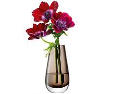 LSA International - Florero de cristal coloreado, 14 cm de altura, Moca
