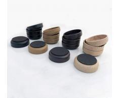 Medipaq - Tazas de Suelo con Base de Goma (8 x 66 mm), Protege Tus Suelos de Madera laminada, Madera, baldosas y Lino, de arañazos
