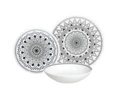Tognana ME070185581 Tribal Chic - Vajilla de porcelana (18 piezas)