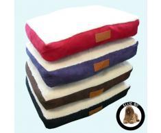 ellie-bo perro cama con ante sintético y piel de cordero Topping para perro Jaula/caja tamaño mediano de 30 pulgadas