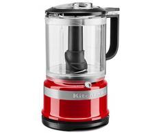 KitchenAid 5KFC0516 - Robot de cocina (1,19 L, Negro, Rojo, Botones, palanca, 3450 RPM, 0,83 L, Mezcla, Mezcla, Puré)