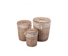 Vical Home Set Cesto De La Ropa 3 Uds. Natural