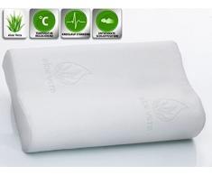 supply24 - Almohada viscoelástica, algodón, 50x30 cm