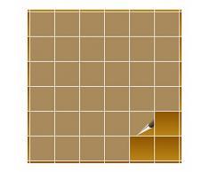 FoLIESEN Adhesivo para Azulejos de baño y Cocina, 10 x 10 cm, marrón Claro Brillante, 160 Adhesivos para Azulejos de Pared