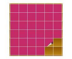 FoLIESEN Adhesivo para Azulejos para baño y Cocina–10x 10cm–Rosa Brillante–400Adhesivos para Azulejos para Pared Azulejos