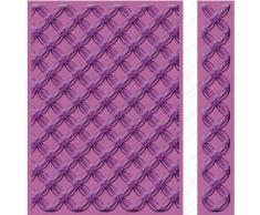 Cricut Cuttlebug - Carpeta y borde de estampado en relieve (13 x 18 cm), diseño de anillos geométricos
