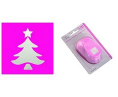 EFCO 1,6 cm Pequeño árbol de navidad Punch, Rosa