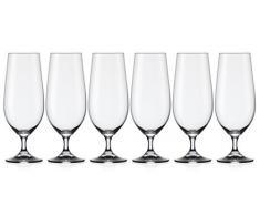 Josef Mäser GmbH Mäser, Serie sin nombre, Biertuple 38 cl en el conjunto de 6, vaso de cristal elegante mango