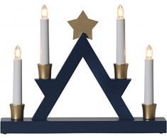 Star 271 – 34, candelabro Julle, madera, E10, marrón, 6.0 x 33.0 x 26.0 cm