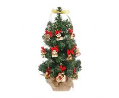 Thun - Árbol de Navidad de 11 x 11 x 60 cm con 10 Mini Adornos de cerámica