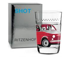 RITZENHOFF 3560012 - Vaso para chupito, color negro y rojo