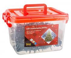 Idena LED Luz Cadena con temporizador para interiores y exteriores, plástico, verde, 5000x 2x 2cm