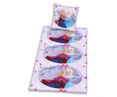 Herding 4480098050412 Frozen Disney Brave Ropa de Cama, Funda de Almohada, 80 x 80 cm y Funda de edredón, 135 x 200 cm, diseño de