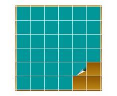 FoLIESEN Adhesivo para Azulejos para baño y Cocina–10x 10cm–Turquesa Brillante–160Adhesivos para Azulejos para Pared Azulejos