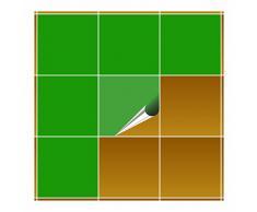 Adhesivo para azulejos para baño y cocina - 20 x 20 cm - verde amarillento brillante – 10 adhesivos para azulejos para pared