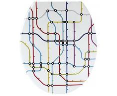 Gelco Design 707980 Plan Metro asiento para inodoro, multicolor 44,9 x 37,7 x 5 cm)