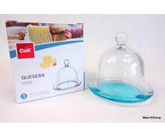 CoK GB1K12 Quesera Mini Tabla de Queso con Campana, Azul, 30 x 9,6 x 30 cm