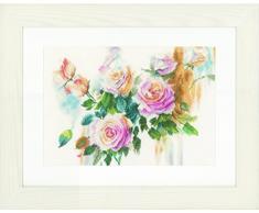Lanarte de rosas diseño de ramo de lino