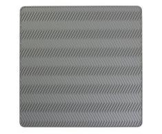 InterDesign - Chevron - Tapete de silicona para secado de vajilla - Mediano - Gris