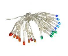WeRChristmas – funciona con pilas estática/Flash LED cadena de luces, 20 piezas – Multicolor