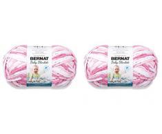 BERNAT - Manta para bebé (2 unidades, 300 g, 600 g), color rosa