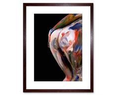 Wee Blue Coo Foto F97X3237 - Cuadro con Marco de Color Piel Desnuda y Texto DT Naked Nude