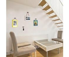 Walplus 5,5cm x 3,2cm, diseño de símbolos de Nueva perchero percha pared adhesivos decoración del hogar salón dormitorio decoración DIY, Negro
