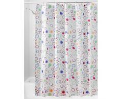 InterDesign Doodle Cortina de ducha | Cortinas estampadas para bañera o plato de ducha | 180 x 200 cm | Alegre cortina de baño con círculos de colores | Poliéster de colores