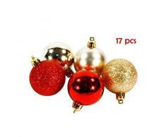 17-Juego de bolas de Navidad Orion decorativas 5 cm