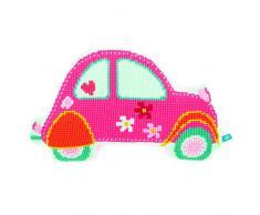 Vervaco rosa coche Stich de cojín de con forma de cruz