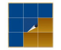 Adhesivo para azulejos para baño y cocina – 20 x 20 cm – Enzianblau brillante – 40 adhesivos para azulejos para pared azulejos