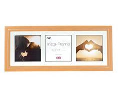 Inov8 21 x 20,32 cm Insta-Frame Marco para Instagram 3/de estampado a cuadros de fotos con paspartú blanco y negro con borde, madera de haya 53