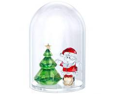 Swarovski - Árbol de Navidad y Papá Noel, Cristal, Multicolor, 4, 8 x 3,8 cm