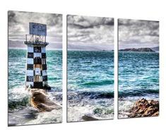Poster Fotográfico Paisaje de faro en el Mar Tamaño total: 97 x 62 cm XXL