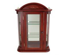 Diseño de Toscano BN1522 Rosedale curiosidades armario de pared de madera, marrón