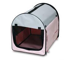Bunny Business tela suave perro perrito de la jaula plegable Crate con forro polar y funda de transporte, extra grande, 81,3 cm, azul/negro _ P