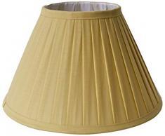 Better & Best Pantalla de lámpara de algodón, de 30 cm, Tabla Estrecha, Color Amarillo