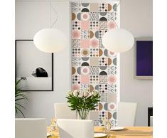 Pegatinas de azulejos adhesivas – Pegatina de azulejos de cemento – Decoración de pared para cuarto de baño y cocina – Azulejos de cemento adhesivo de pared – 15 x 15 cm – 60 unidades