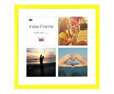 Inov8 16 x 40,64 cm Insta-Frame Marco para Instagram 4/de estampado a cuadros de fotos con paspartú blanco y blanco con borde, 2 unidades, amarillo