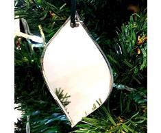 Super Cool Creations Diamond Bauble - Adornos para árbol de Navidad (espejados, 10 Unidades)
