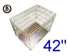 ellie-bo perro perrito de la jaula plegable 2 puerta con orificio non-chew bandeja de metal extra grande (42)