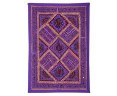 Apliques de pared Decoración del hogar Espejo Patchwork Purple Pared Tapiz Colgante
